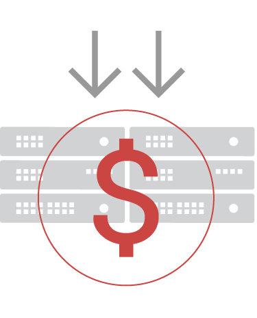 Disaster recovery with reduced hardware and costs